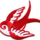 Bird tattoo swallow dove swiftlet sparrow biker applique iron-on patch new S-970
