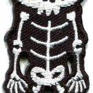 Skull skeleton goth punk emo horror biker boho applique iron-on patch new S-664