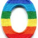 Letter O gay lesbian LGBT rainbow english alphabet applique iron-on patch S-922