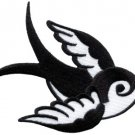 Bird tattoo swallow dove swiftlet sparrow applique iron-on patch new Small S-595