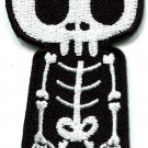 Skull skeleton goth punk emo horror biker applique iron-on patch new S-261