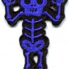 Skull skeleton goth punk emo horror biker sew applique iron-on patch new S-452