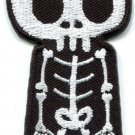 Skull skeleton goth punk emo horror biker tattoo applique iron-on patch S-450