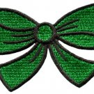 Green bow knot ribbon boho retro sew sewing applique iron-on patch new S-444