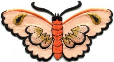 Butterfly insect boho hippie retro love peace applique iron-on patch new S-454