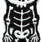 Skull skeleton goth punk emo horror biker applique iron-on patch new S-257
