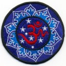 Aum om infinity hindu hinduism yoga indian trance applique iron-on patch new T-7