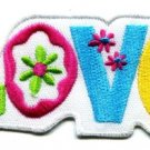 Love peace hippie retro weed embroidered applique iron-on patch new S-39