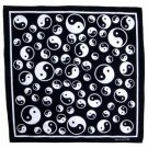 Yin Yang tao taoism bandana handkerchief headwrap head wrap biker 20X20 in. new