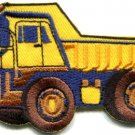 Dump truck dumper tip truck lorry applique iron-on patch new S-431 FREE WORLDWIDE DELIVERY!