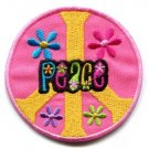 Peace sign hippie retro applique iron-on patch new S-23