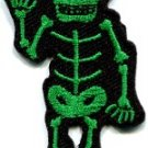 Skull skeleton goth horror psycho rock metal applique iron-on patch new S-266