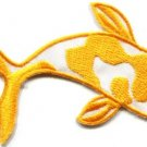 Japanese koi carp fish tattoo Japan love yellow applique iron-on patch new S-432