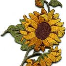 Sunflower flower granny chic retro boho sew sewing applique iron-on patch S-494