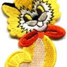 Kitty cat kitten pet retro boho sew sewing applique iron-on patch new S-212
