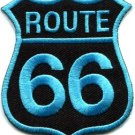 Route 66 retro muscle cars 60s americana USA applique iron-on patch new S-271