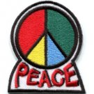 Peace sign hippie retro applique iron-on patch new S-28