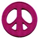 Peace sign hippie retro applique iron-on patch new S-21