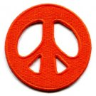 Peace sign hippie retro applique iron-on patch new S-17