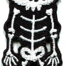 Skull skeleton goth punk emo horror biker applique iron-on patch new S-258