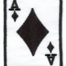 Ace of Diamonds playing card poker retro las vegas applique iron-on patch S-9
