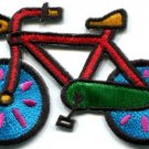 Bicycle retro bike 70s applique iron-on patch new S-126