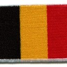 Flag of Belgium Belgian embroidered applique iron-on patch Medium S-99
