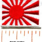 Flag of Japan Japanese naval ensign rising sun nippon iron-on patch Small S-104