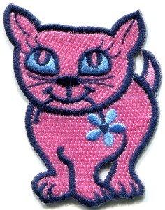 Kitty cat kitten retro applique iron-on patch new S-209