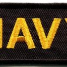 Navy military insignia naval rank war biker retro applique iron-on patch S-706