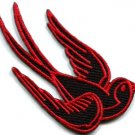 Bird tattoo swallow dove swiftlet sparrow biker applique iron-on patch Lg. S-357