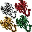 Lot of 4 scorpion biker tattoo Muay Thai kickboxing appliques iron-on patches