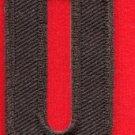 Letter Q english alphabet language school applique iron-on patch new S-889