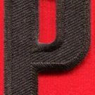 Letter P english alphabet language school applique iron-on patch new S-888