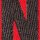 Letter N english alphabet language school applique iron-on patch new S-886