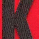 Letter K english alphabet language school applique iron-on patch new S-883