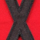 Letter X english alphabet language school applique iron-on patch new S-896