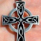 Celtic Cross Irish goth tattoo druids wicca pagan pewter pendant necklace new