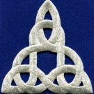 Celtic knot Irish goth biker tattoo retro magic applique iron-on patch new S-532
