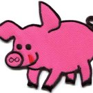 Pig sow hog swine boar livestock farm animal applique iron-on patch new S-688