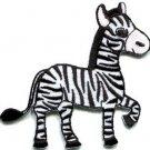 Zebra african equid wild horse safari wildlife applique iron-on patch new S-669
