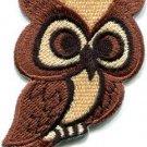 Owl bird of prey hoot animal wildlife applique iron-on patch new S-681