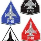 Lot of 4 F-16 fighting falcon USAF air force jet applique iron-on patches new
