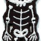 Skull skeleton goth emo horror splatter biker applique iron-on patch new S-256