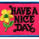 Have a Nice Day 70s hippie retro boho weed love applique iron-on patch new S-118