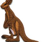 Kangaroo australia roo boomer marsupial animal applique iron-on patch new S-685