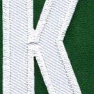 Letter K english alphabet language school applique iron-on patch new S-857