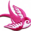 Bird tattoo swallow dove swiftlet sparrow biker applique iron-on patch new S-967