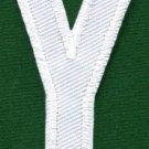 Letter Y english alphabet language school applique iron-on patch new S-870