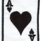 Ace of Hearts playing cards retro biker applique iron-on patch S-11 WE SHIP ANYWHERE FOR FREE!
